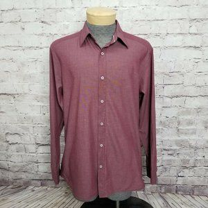 Howe Mens XL Maroon Studio to Sand Button Front
